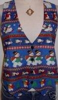 Christmas Snowmen Snowman Penquin Horse Show Vest M