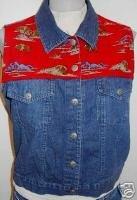 Texas Buffalo Western Horse Show Vest Plus Size XL