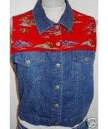 Texas Buffalo Western Horse Show Vest Plus Size XL - $38.00