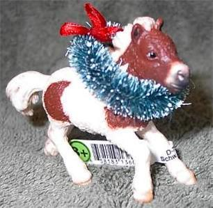 CM Schleich Shetland Pony Foal Horse Christmas Ornament
