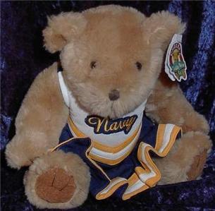 Chelsea Navy Cheerleader Cheer Leader Teddy Bear 8 Inch
