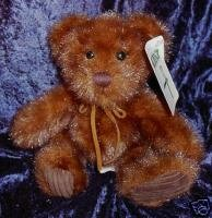 First & Main Brown Minky the Teddy Bear #1402 W Tag