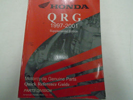 1997 2001 Honda QRG Parts Quick Reference Guide Supplement Manual Used Book - $30.09