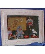 Teddy Bear Angel Quilt Shadow Box Shelf Sitter - $24.99