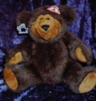 Applause Clementine Brown Bear Fully Jointed Gingham Bo