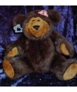 Applause Clementine Brown Bear Fully Jointed Gingham Bo - $24.99