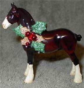 CM Peter Stone Chips Horse Glossy Clydesdale Ornament