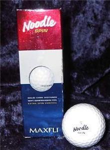 Maxfli Noodle Spin Golf Balls W Ford Credit Logo Ad