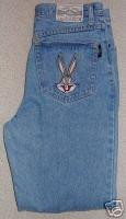 Ladies Bugs Bunny Looney Tunes Blue Denim Jeans 32 / 33