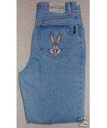 Ladies Bugs Bunny Looney Tunes Blue Denim Jeans 32 / 33 - $40.00