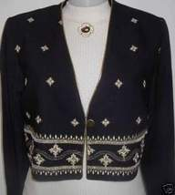 Black Gold Embroidery Rail Horse Show Hobby Jacket 8 - $50.00