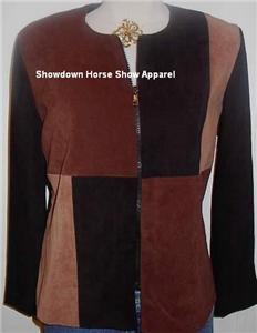 Brown Black Western Halter Horse Show Hobby Jacket Sz 8