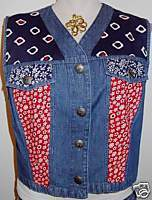 Western Apparel Horse Show Red White Blue Hobby Vest M
