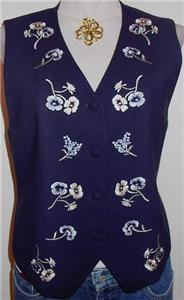 Western Apparel Horse Show Blue Embroidery Hobby Vest 8