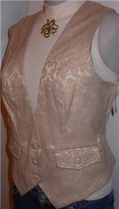 Tan Cream Western Apparel Rail Horse Show Hobby Vest 10