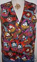 Mickey Mouse Disney Apparel Horse Show Hobby Vest M - $38.00