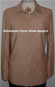 Tan Tooled Western Apparel Horse Show Hobby Shirt 12