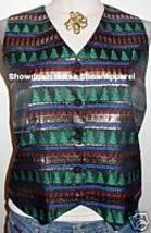 Western Christmas Apparel Halter HorseShow Hobby Vest M - $38.00