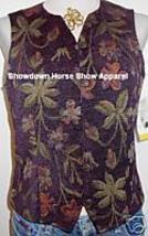 Purple Plum Western Apparel Horse Show Hobby Vest S New - $38.00