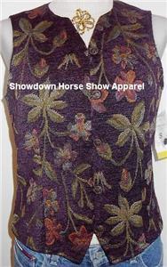 Purple Plum Western Apparel Horse Show Hobby Vest S New
