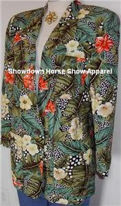 Green Floral Western Apparel Horse Show Hobby Jacket 10