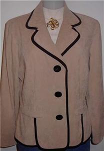 Tan Black Western Horse Show Hobby Jacket Plus Size 14P