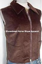Brown Western Halter Horse Show Apparel Hobby Vest LG - $38.00
