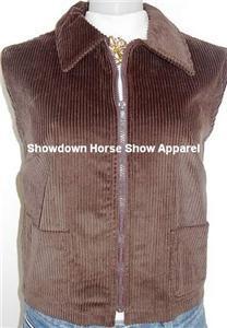 Brown Western Halter Horse Show Apparel Hobby Vest LG