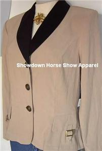 Beige Western Horse Rodeo Show Apparel Hobby Jacket 12