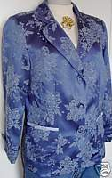 Blue Floral Western Horse Show Hobby Apparel Jacket Medium Showmanship Clothes