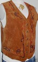 BrownPiped Western Horse Show Hobby Apparel Rail Vest M - $38.00