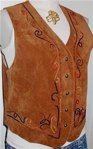 BrownPiped Western Horse Show Hobby Apparel Rail Vest M