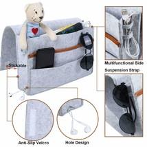 Sofa Hanging Bedside Storage Bag Caddy Pocket Bed Phone Book Holder Orga... - $30.30