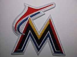 """Miami Marlins Embroidered PATCH~3 3/4 """" x 3 3/4""""~Iron Sew On~MLB~Ships FREE - $4.95"""