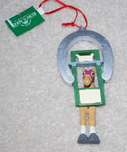 """Kurt Adler Horse Horseshoe Christmas Ornament 5"""" NWT Vintage Holiday - $13.32"""