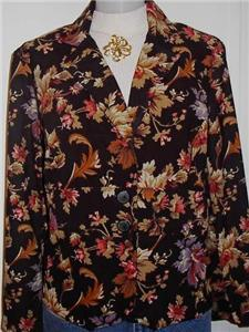 Blk Floral Western Horse Show Apparel Jacket Plus Size