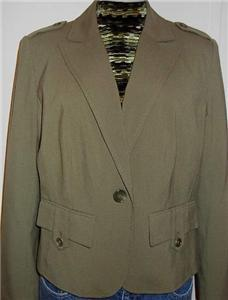 Green Military Western Halter Horse Show Hobby Apparel Jacket Plus Size 14