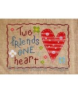 Two Friends One Heart friendship PDF cross stitch charts Helga Mandl  - $7.00