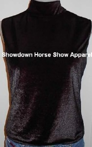 Black Western Halter Horse Show Hobby Clothes Slinky M