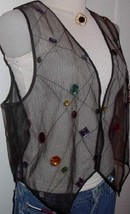 Sheer Jewel Western Dog Horse Show Hobby Clothes Vest M - $38.00