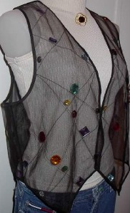 Sheer Jewel Western Dog Horse Show Hobby Clothes Vest M