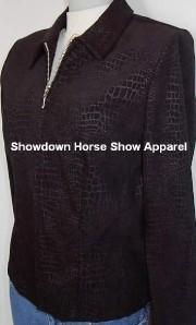 Black Alligator Print Western Horse Show Hobby Jacket 6