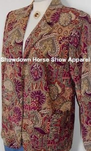 Paisly Western Halter Horse Show Hobby Jacket Clothes S