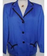 Royal Blue Black Horse Show Hobby Halter Jacket 10 - $55.00