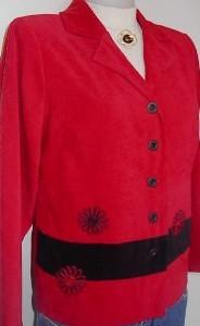 Red & Black Western Horse Show Hobby Halter Jacket 8P