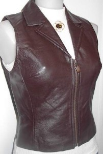 Brown Leather Vest Western Rodeo Horse Show Hobby Small