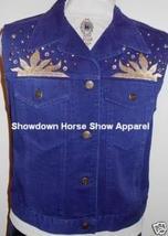 Blue Western Dog Horse Show Hobby Clothes Vest Studs LG - $40.00