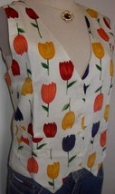 New! Tulip Floral Vest Western Rodeo Horse Show Hobby M - $45.00
