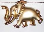Golden Elephant Horse Show Jewelry Pin Brooch SHOWTIME