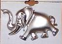 Silvery Elephant Horse Show Jewelry Pin Brooch SHOWTIME